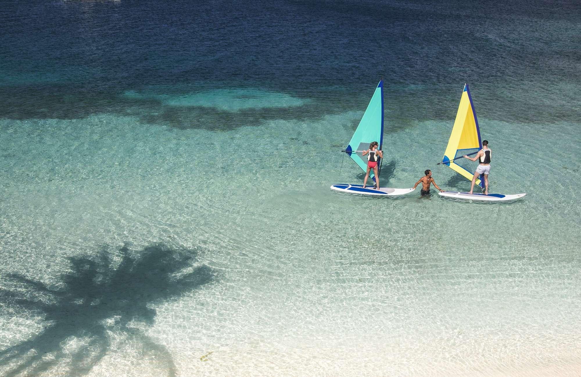 Windsurfing on Caribbean Sea
