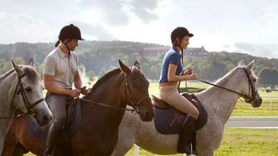 Horse-riding at Club med