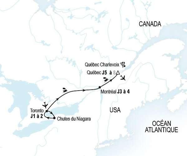 De Niagara à Québec en train